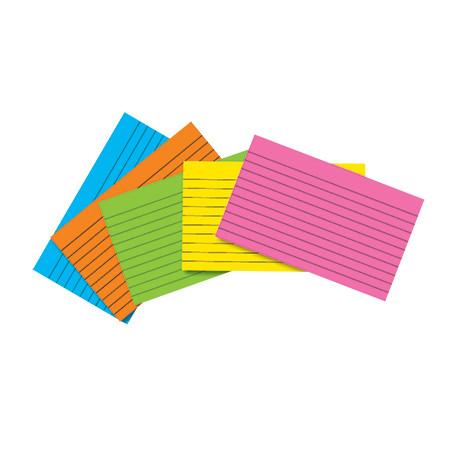 index cards.