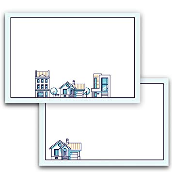 Note Cards for Real Estate and Realtors, A6, 4 x 6 inches, The Gift  Collection, Double.