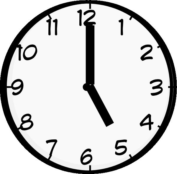 5 O\'clock Clipart.