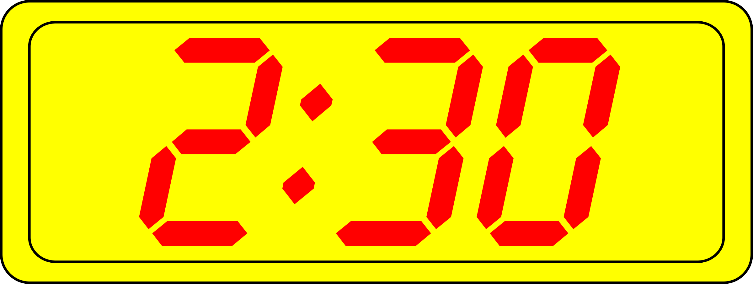 Digital Clock Clipart 3 00.