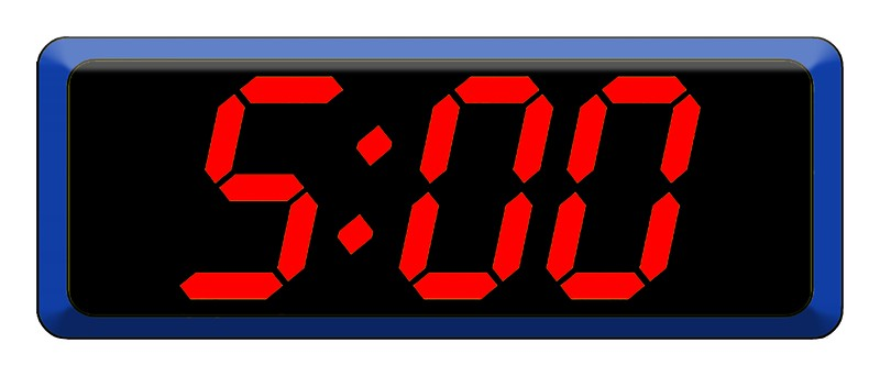5 Am Digital Clock (Isolated) Stock Photo 264182 Megapixl.