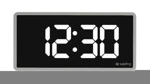 Digital Clock Clipart.