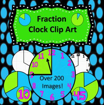 Clock Fraction Clip Art.