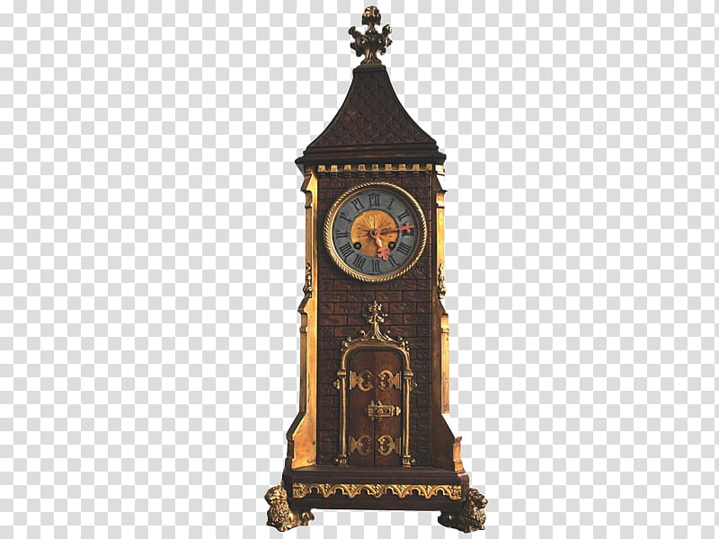 Grandfather clock at : transparent background PNG clipart.