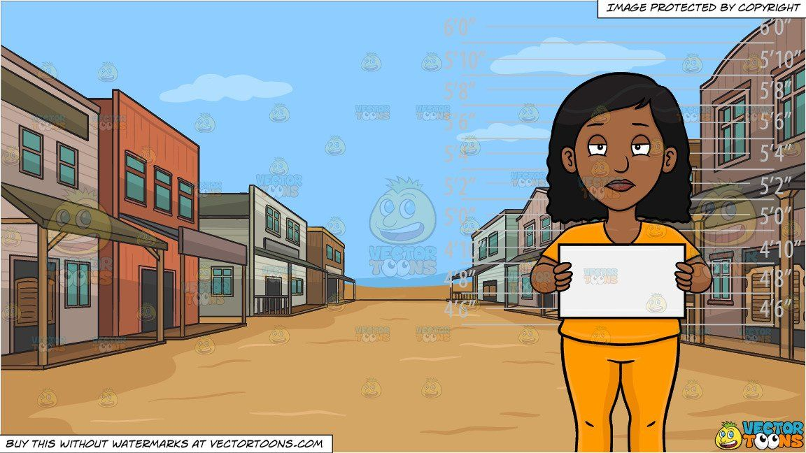 clipart #cartoon A Black Woman Stands In Front Of A Height.