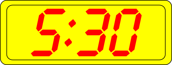Digital Clock 5:30 Clip Art at Clker.com.