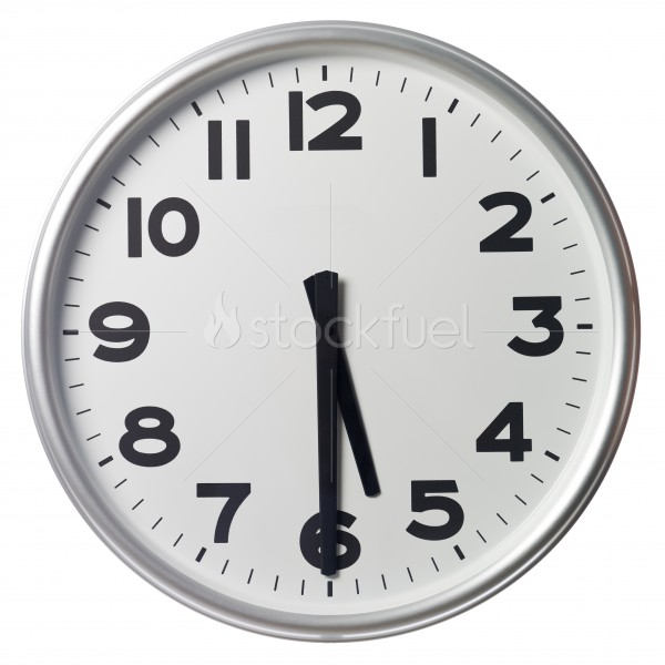 Half Past Five Stock Photo.