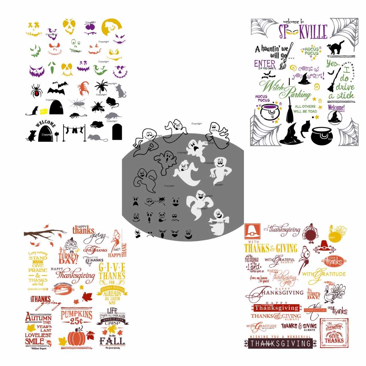 Holiday Clipart USB Package, Vector Art Images for Year Round Events.