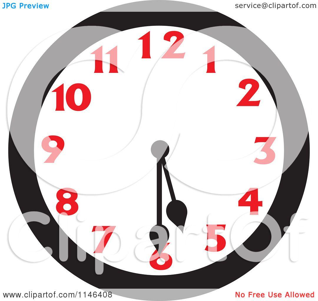 5 30 Clock Clipart.