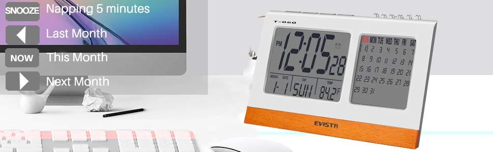 EVISTR Digital Clock Large Display.