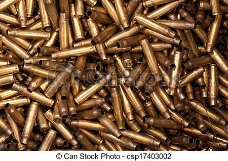 5,56 mm bullet casings.