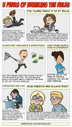 5 Risks Of Breaking The Rules #comic #cartoon #article #clipart.