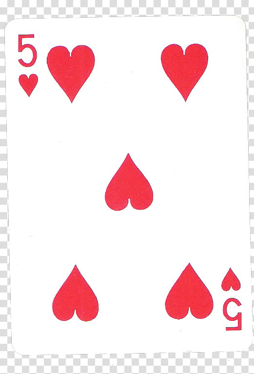 Pokerface, white and red playing card transparent background.