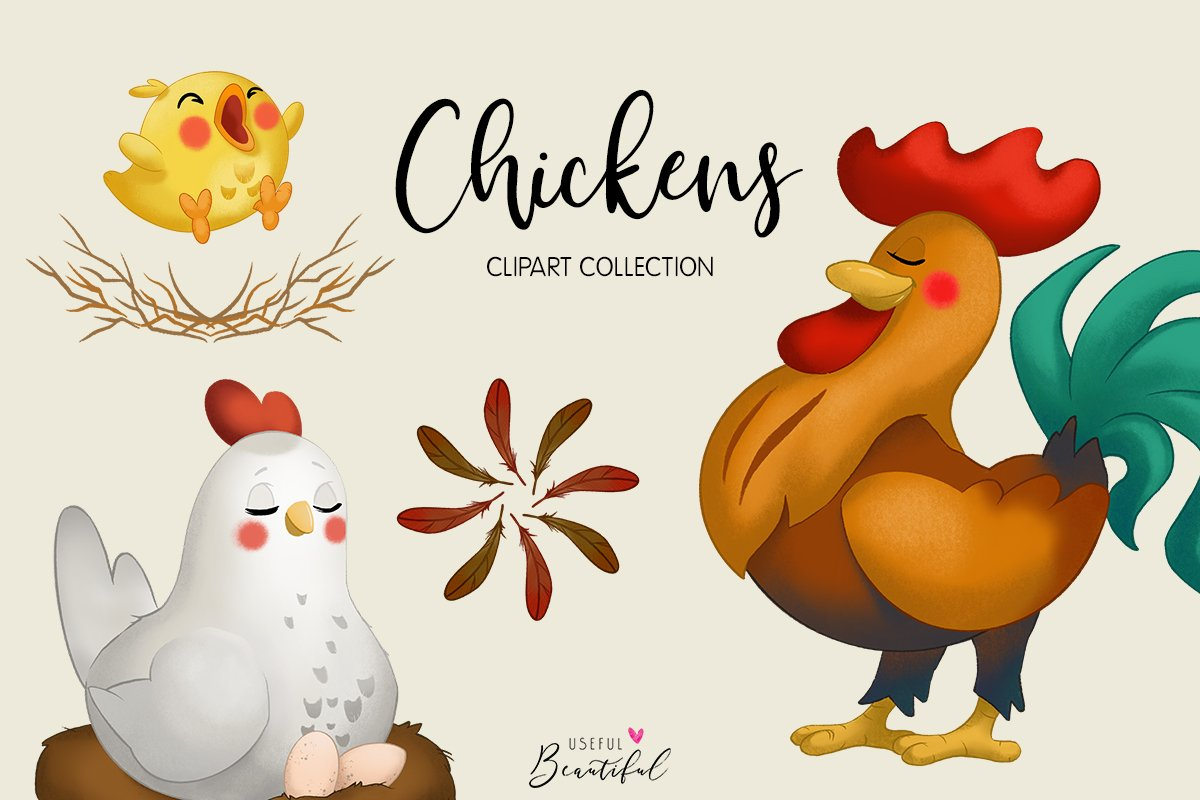 Chickens Clipart Collection.