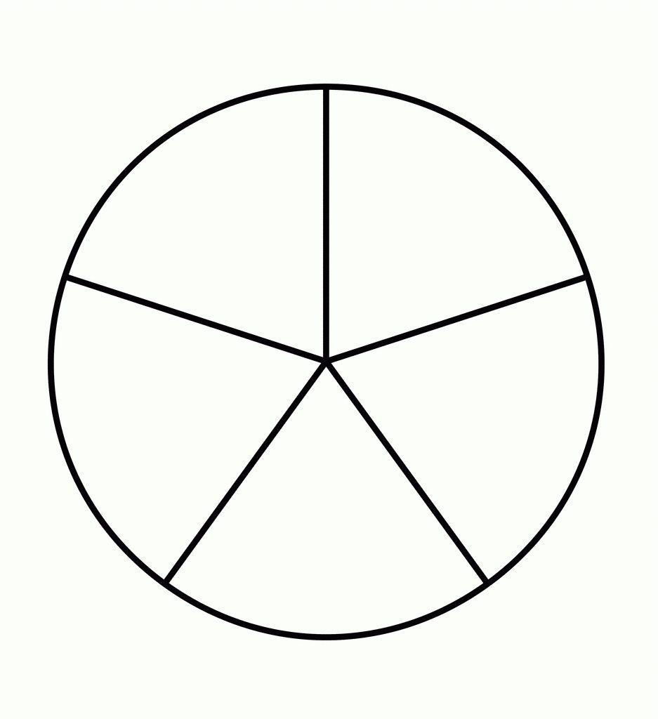 5 Piece Pie Chart Template 2018.