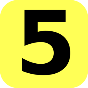 Number 5 Clipart.