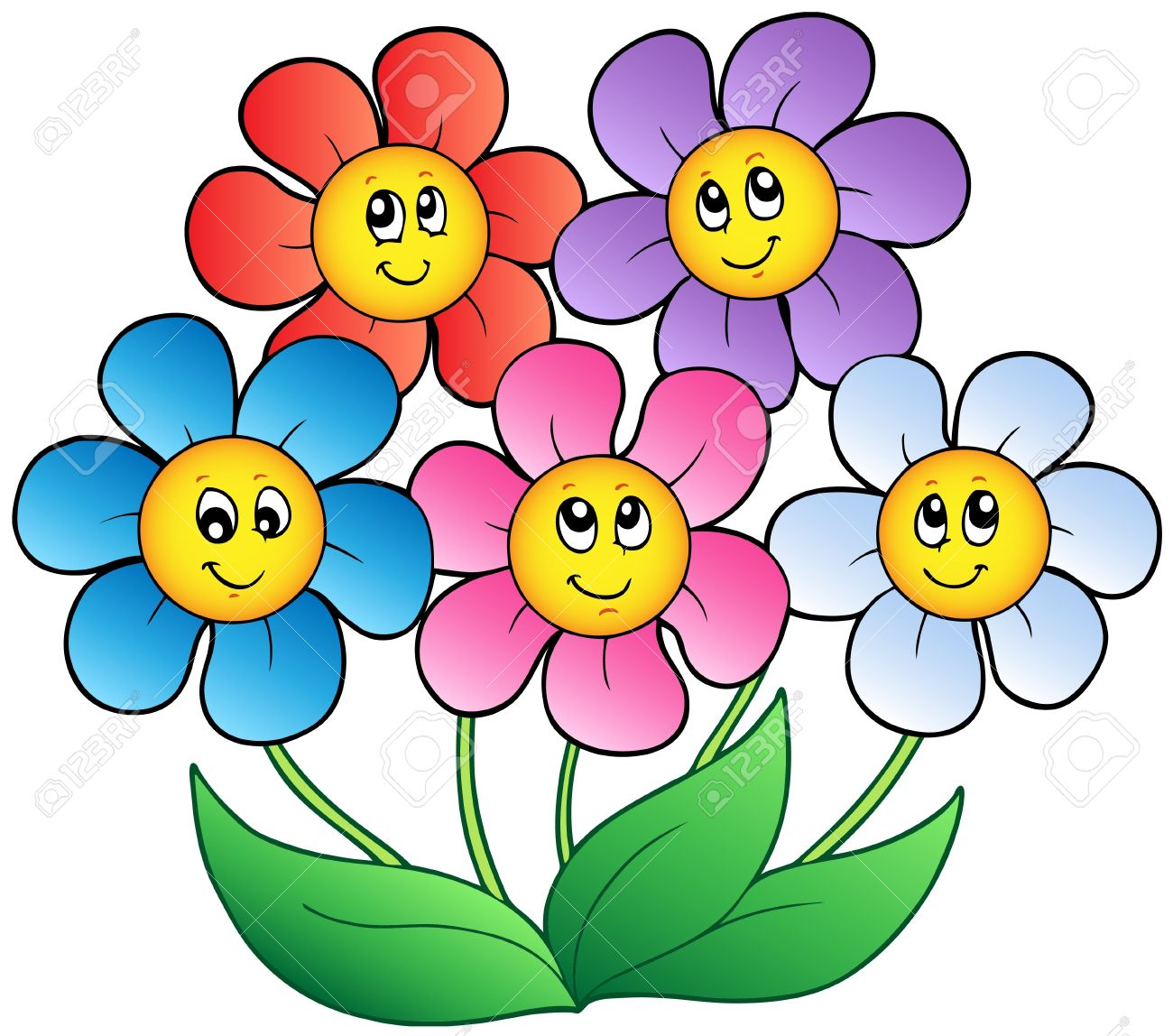 5 clipart flower, 5 flower Transparent FREE for download on.