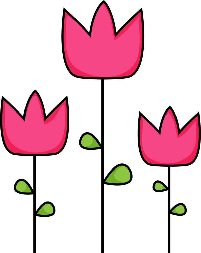 Pink tulip clipart 5.