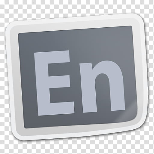 Adobe CS Creative Suite Sticker Icons, Encore transparent.