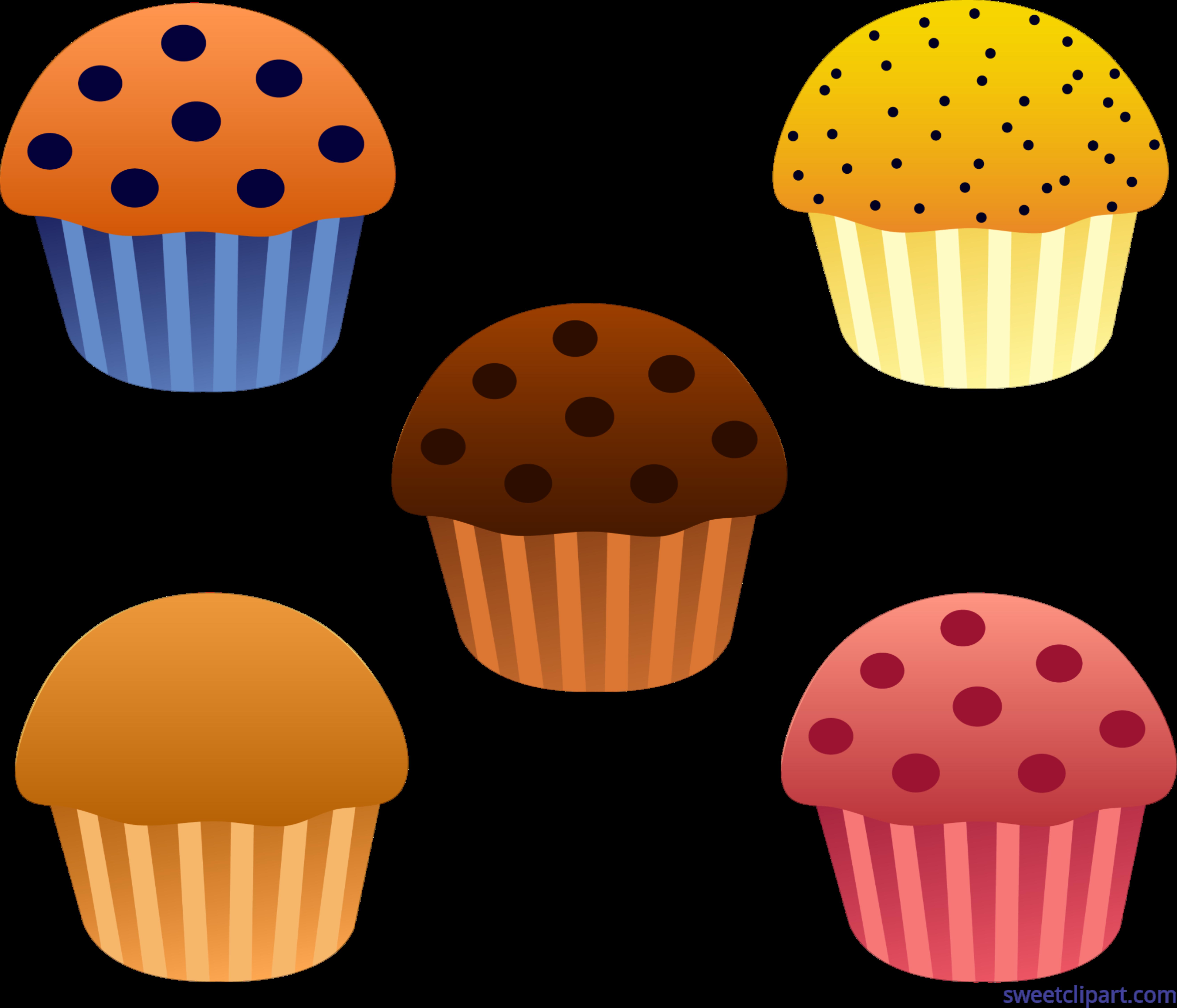 Cupcakes clipart design, Cupcakes design Transparent FREE.