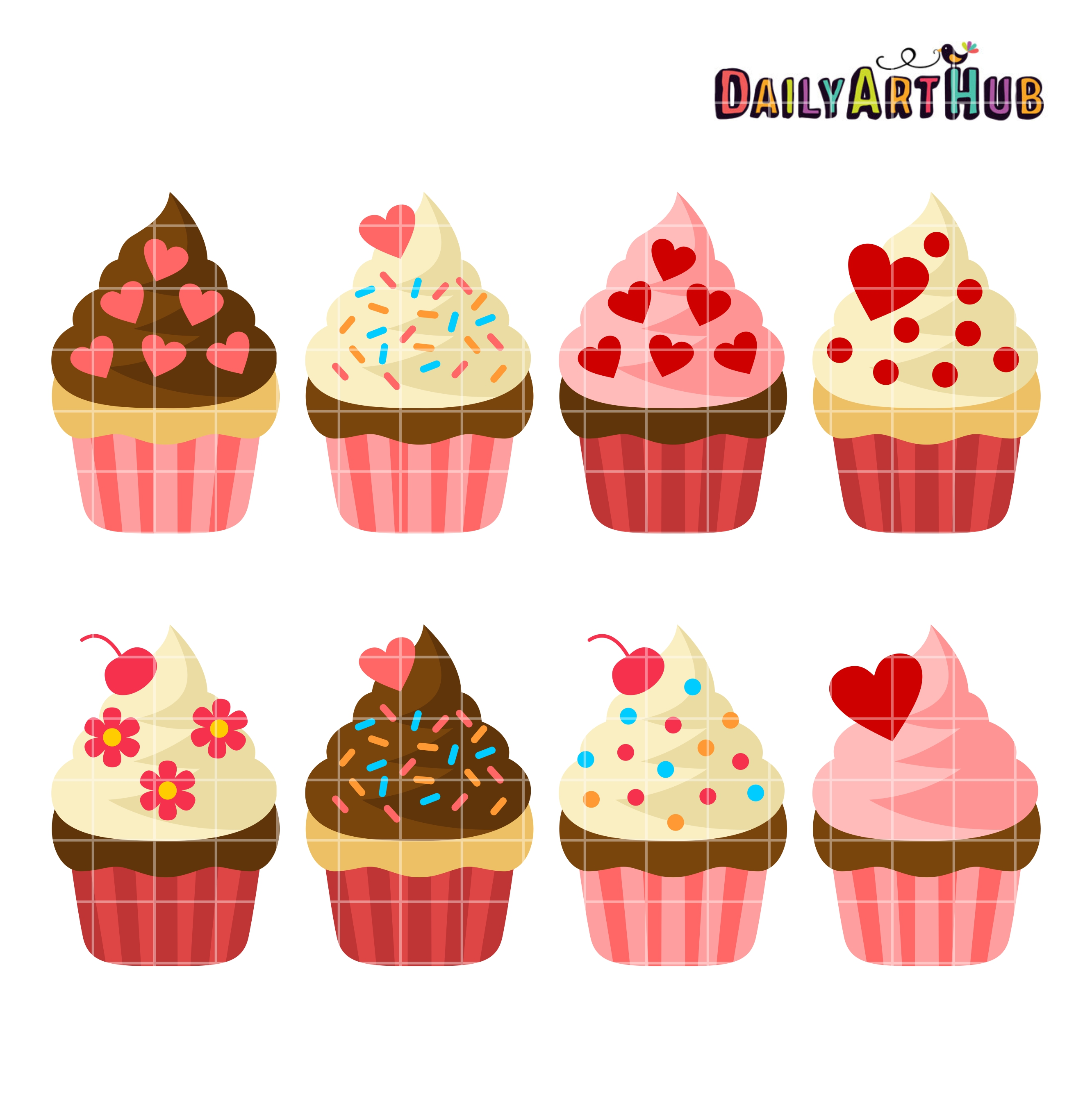 Valentines cupcake clipart 5 » Clipart Station.