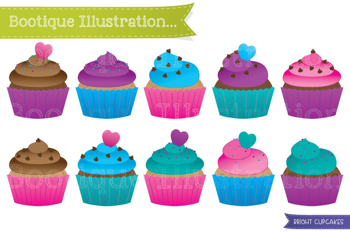 Colorful cupcake clipart 5 » Clipart Station.