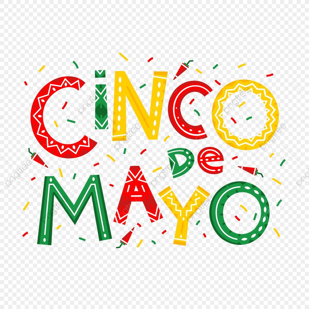 Cinco De Mayo Hand Drawn Lettering Design, Cinco, De, Mayo PNG and.