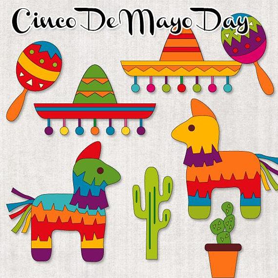 Cinco de mayo clipart sale / Mexican Fiesta clip art.