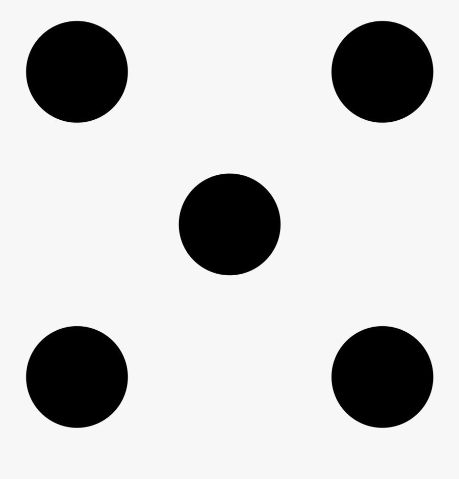 5 Dice Dots Clipart , Png Download.