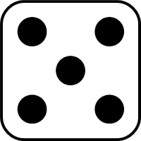 5 clipart dice Transparent pictures on F.