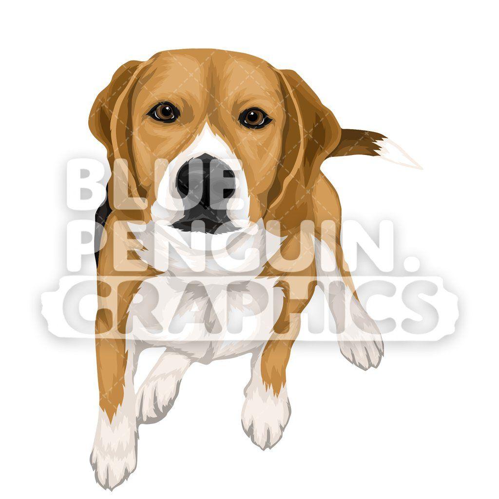 Beagle Dog version 5 Vector Cartoon Clipart Illustration.
