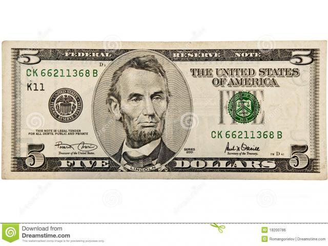 $5 Bill Cliparts 2.