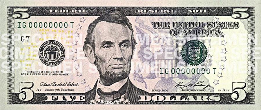 5 dollar bill clipart 1 » Clipart Portal.