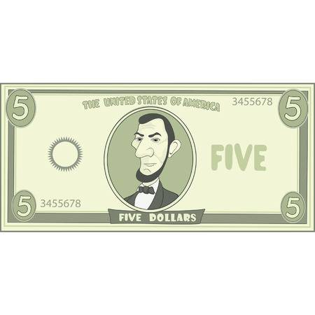 320 Five Dollar Bill Stock Illustrations, Cliparts And Royalty Free.