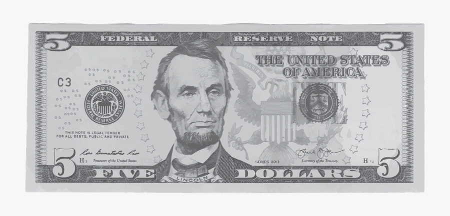 5 Dollar Bill Png.