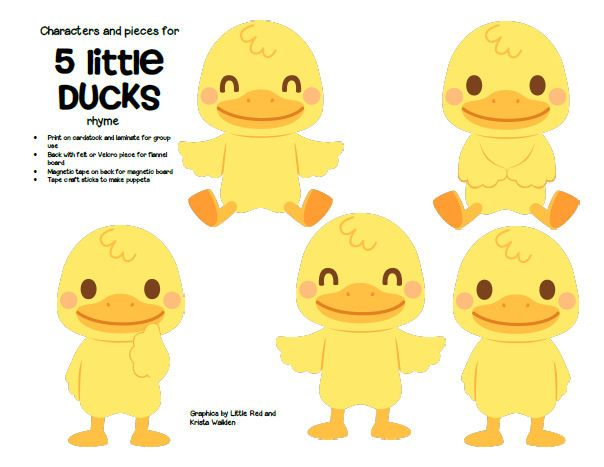 FREE*** Characters and pieces for 5 Little Ducks went Out.