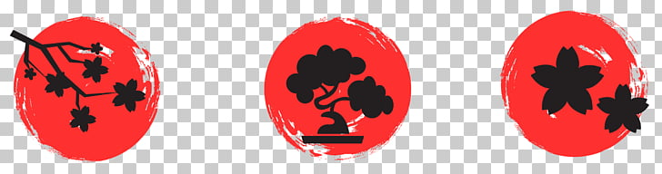 Japan Five elements, Cherry small mark PNG clipart.
