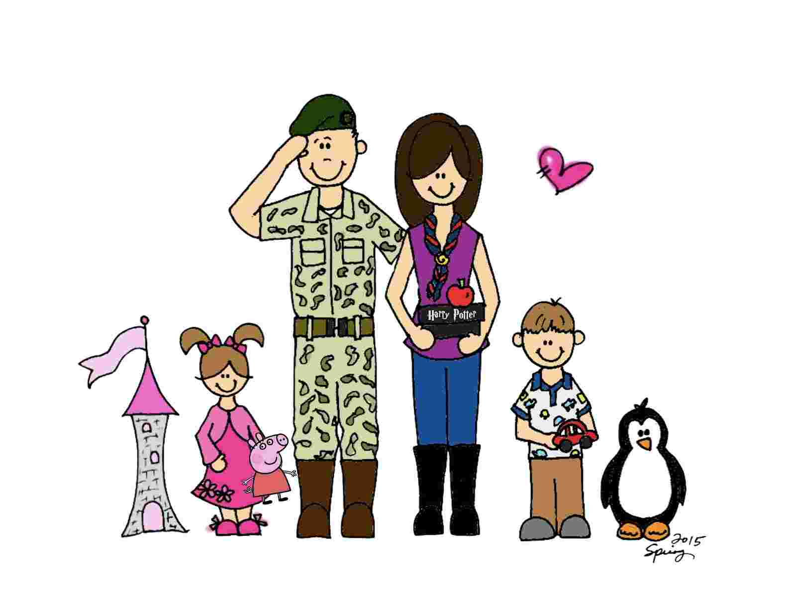 Cliparts Library: Military Family Clipart 5 Spring Time.