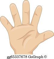 Five Finger Clip Art.