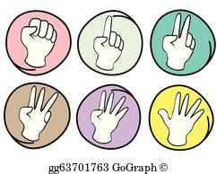 5 Fingers Clip Art.