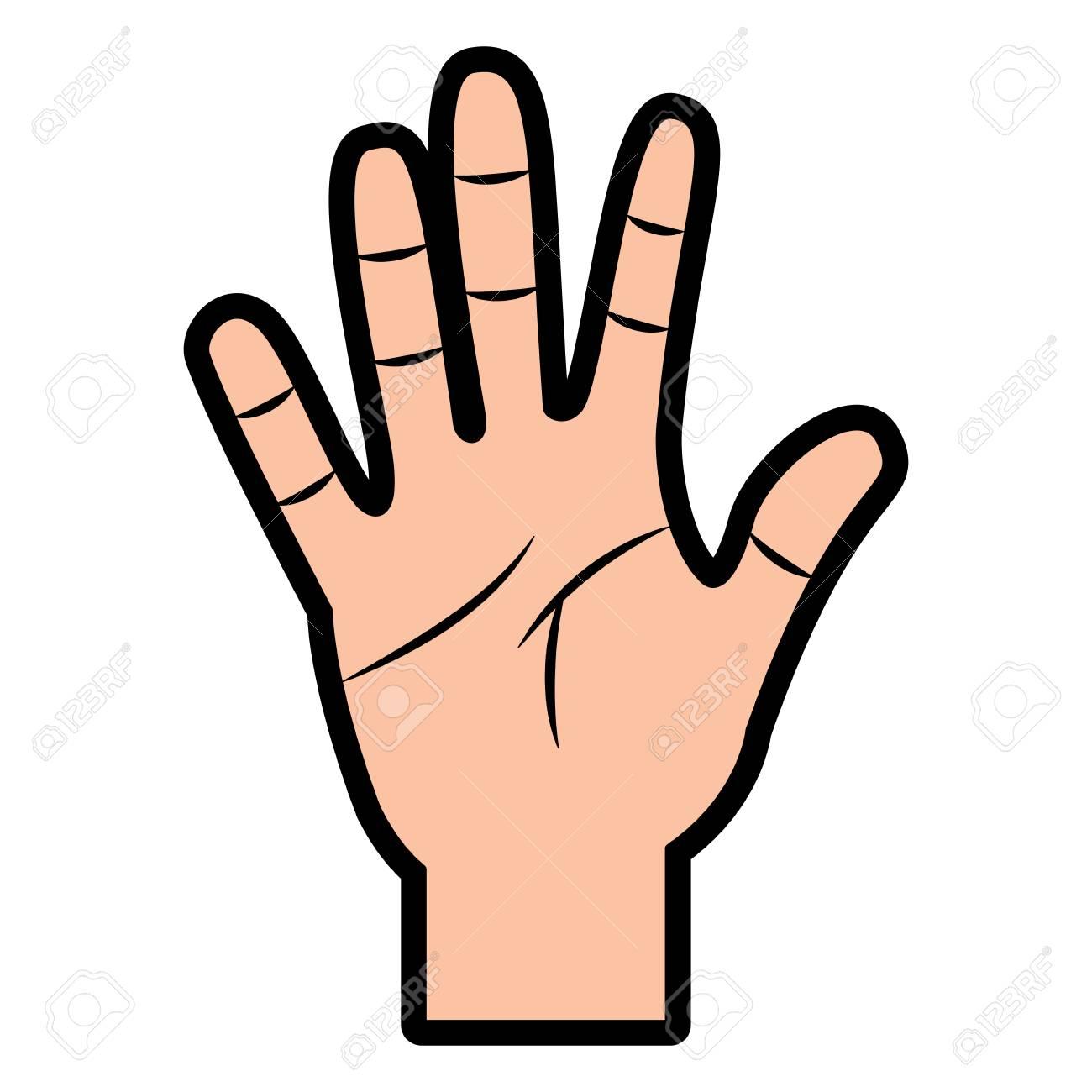 5 Fingers Clipart.