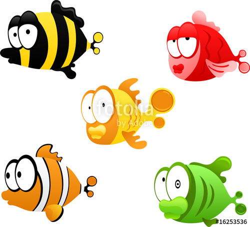 cartoon fishes