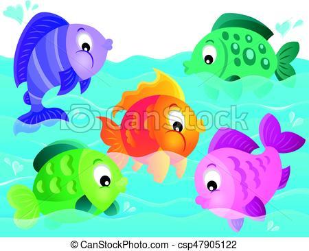 Stylized fishes theme image 5.