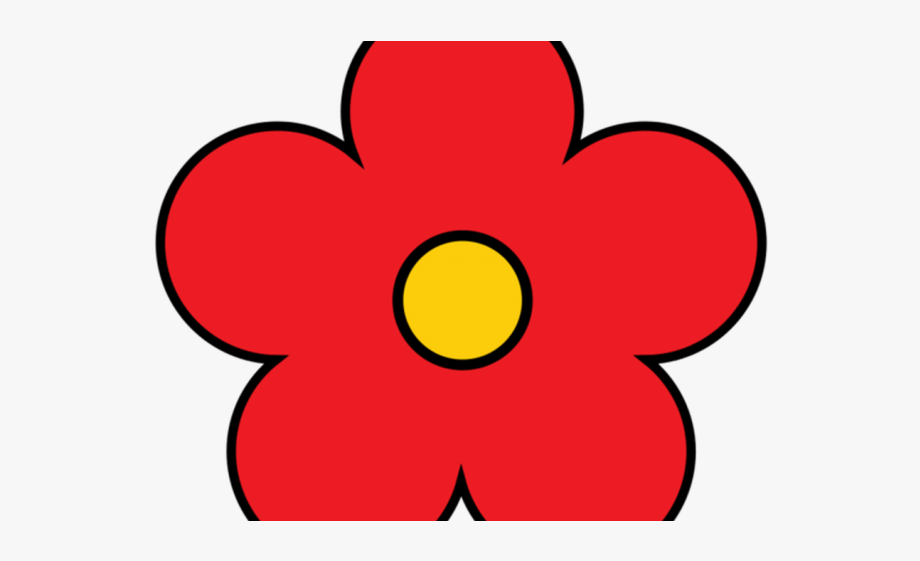 Red Flower Clipart 5 Petal Clipart , Transparent Cartoon.