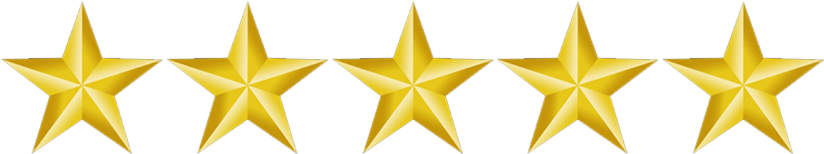 5 Gold Star Png.