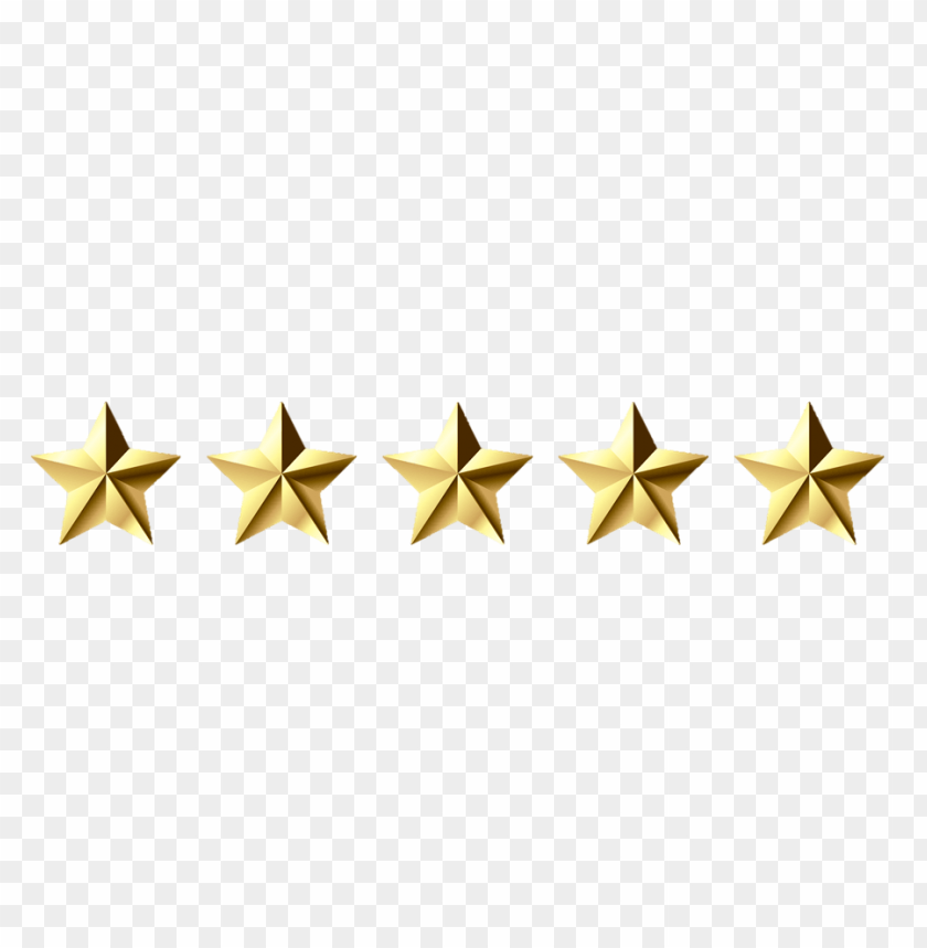 5 gold star png PNG image with transparent background.