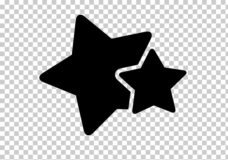 Silhouette Star , 5 stars PNG clipart.