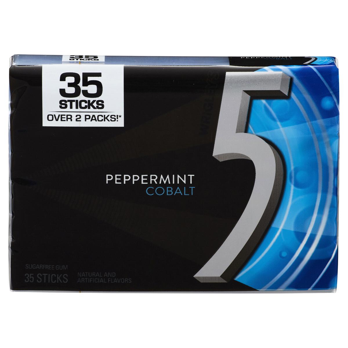 5 Gum Peppermint Cobalt Sugarfree Gum, 35.