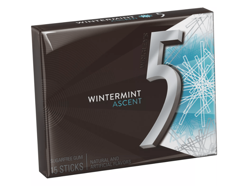 Wrigley's 5 Gum Wintermint Ascent Sugar Free.