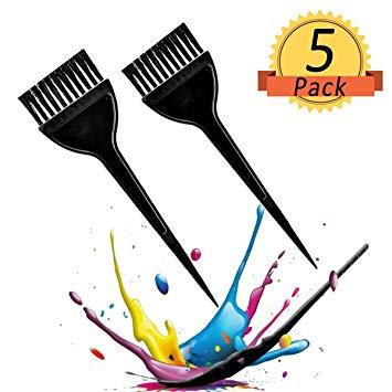 Hair Dye Brush, 5 Pack Hair Coloring Brush Professional Hair Tint Brush  Hair Dye Applicator Brush, Black.